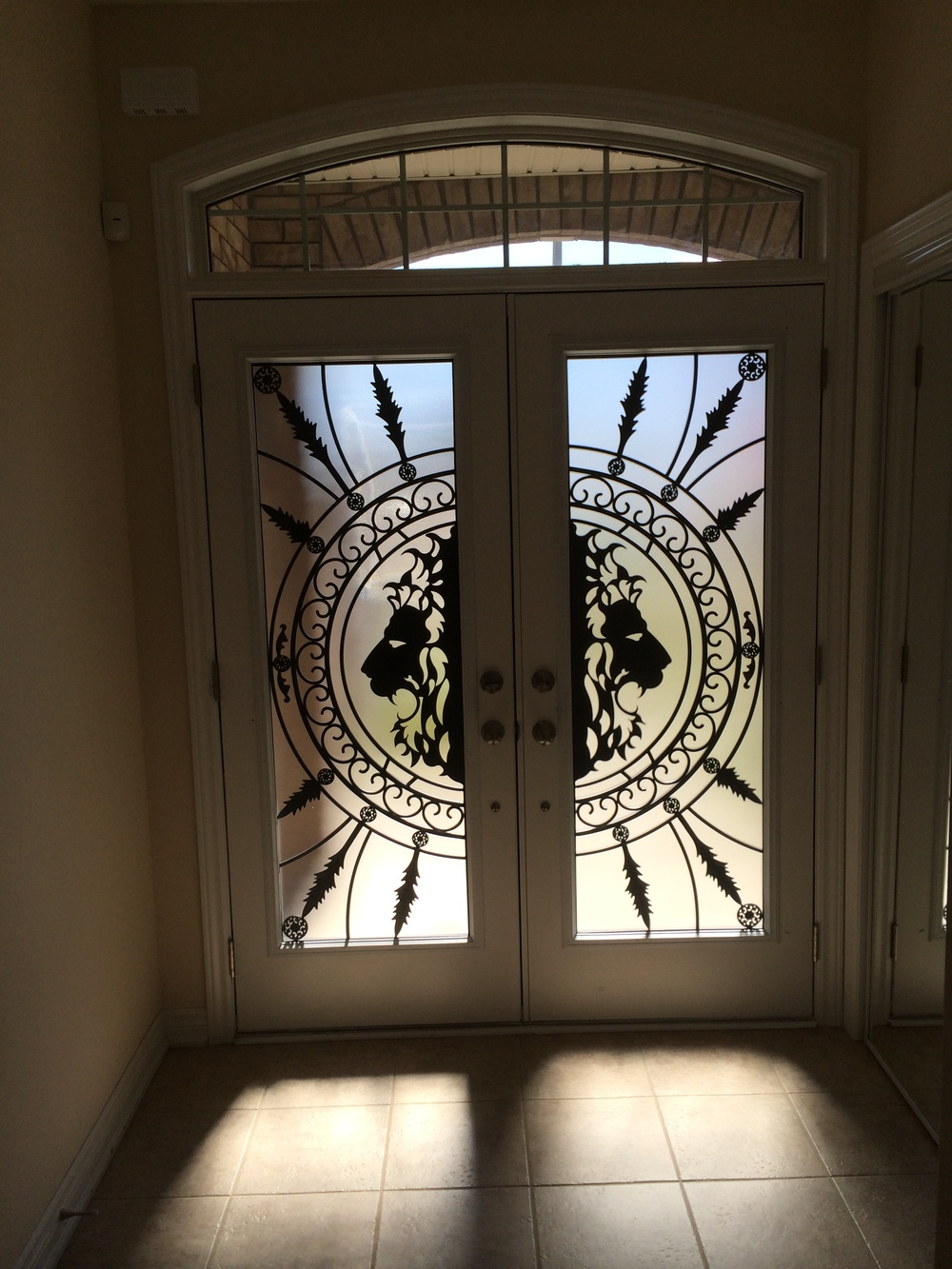 Forest-King-Wrought-Iron-Glass-Door-Inserts-Bradford-Ontario