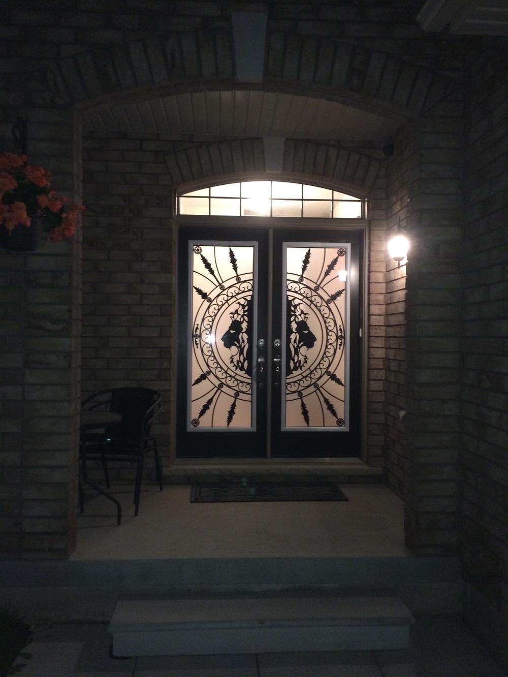 Forest-King-Wrought-Iron-Glass-Door-Inserts-Milton-ontario