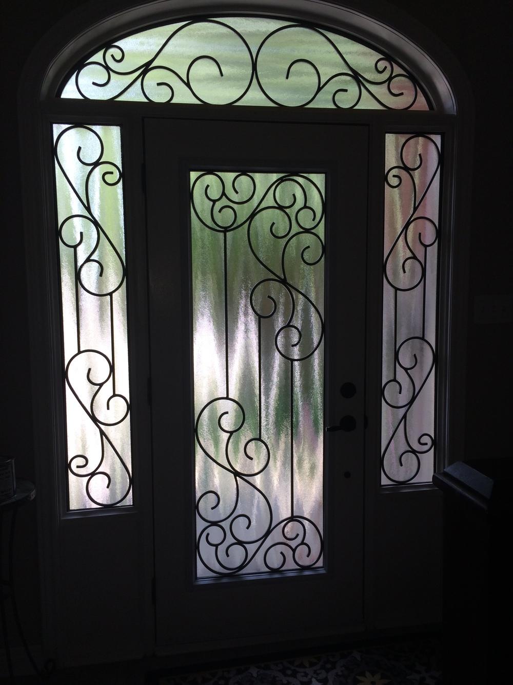 Gateway-Wrought-Iron-Glass-Door-Inserts-Mississauga-Ontario