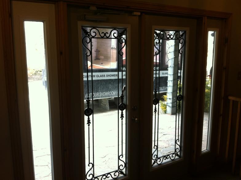 Georgetown-Wrought-Iron-Glass-Door-Inserts-Newmarket-Ontario