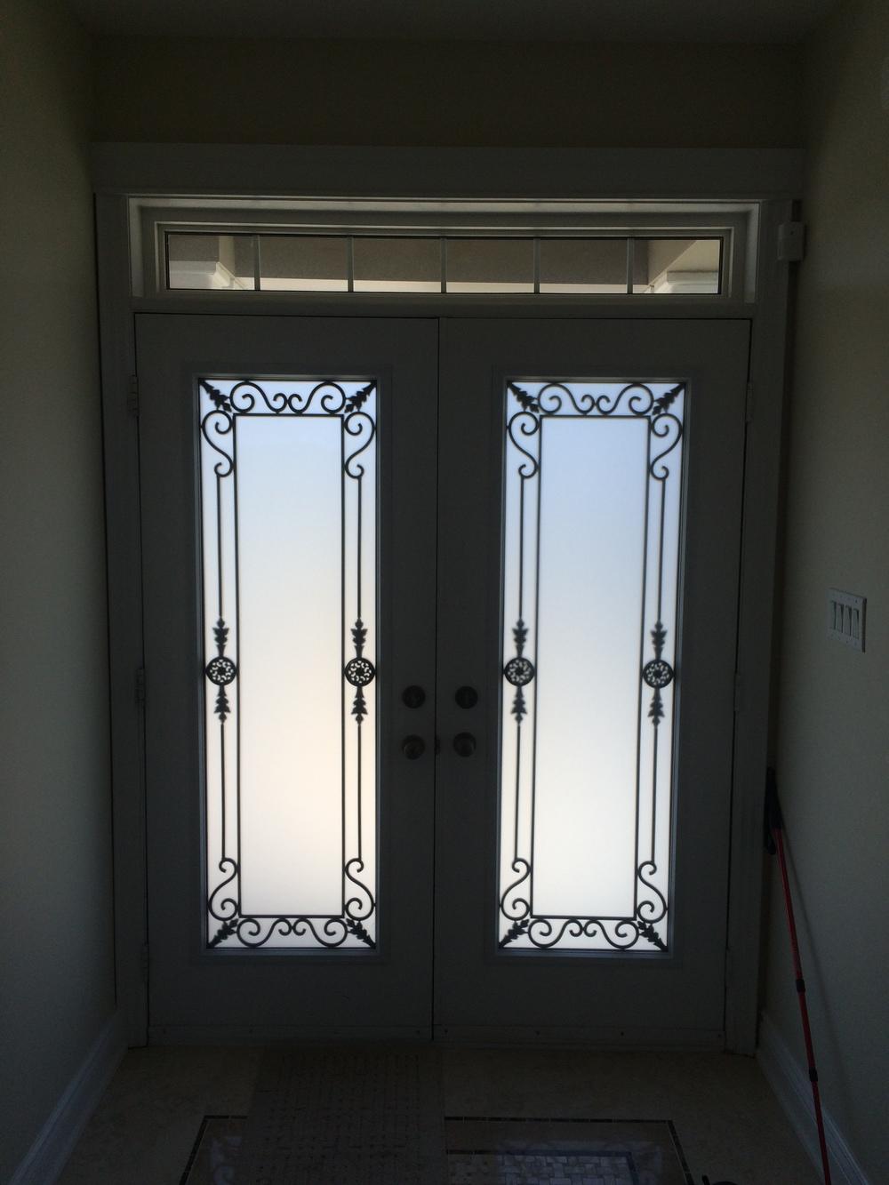 Georgetown-Wrought-Iron-Glass-Door-Inserts-Bradford-Ontario