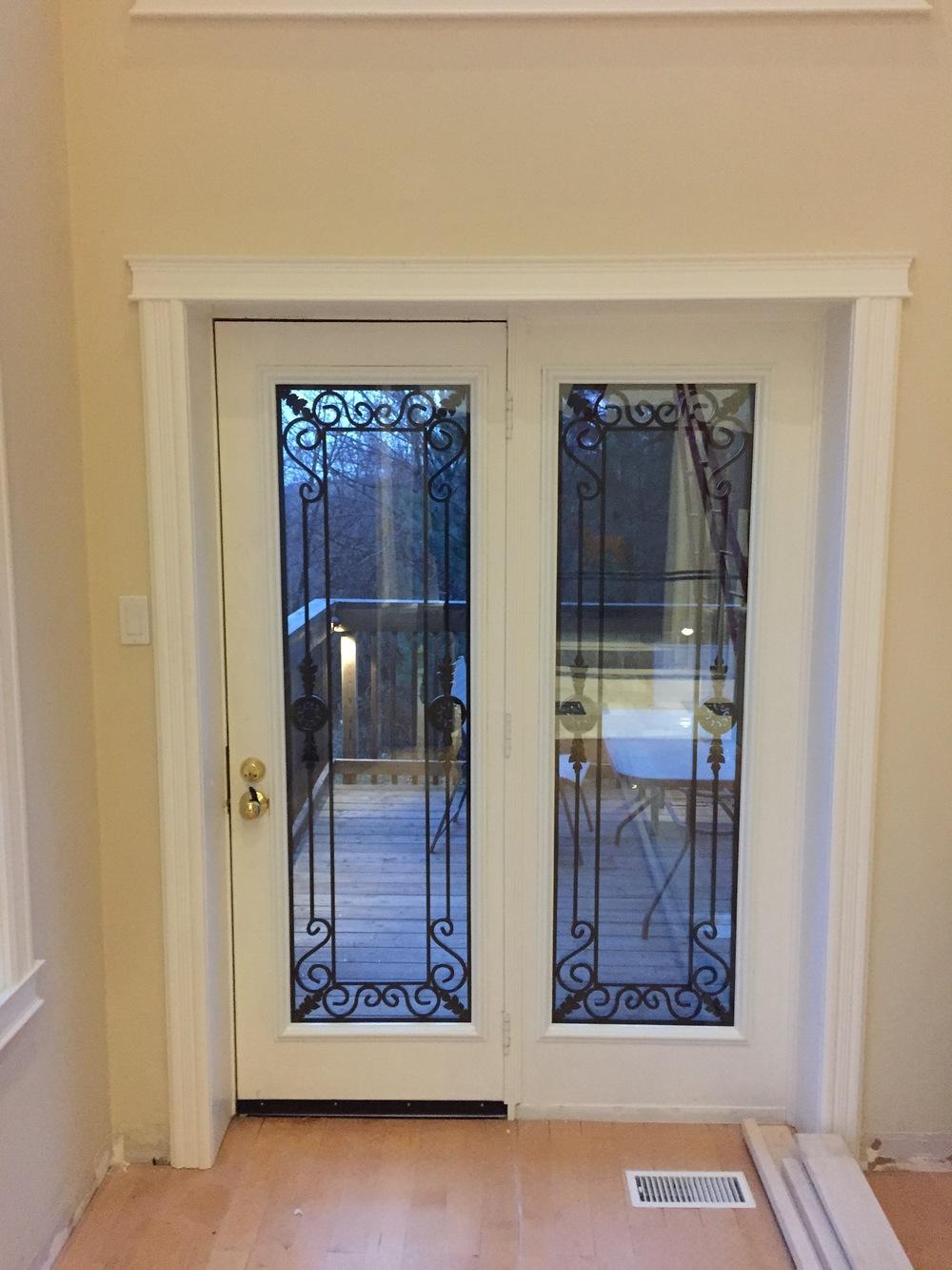 Georgetown-Wrought-Iron-Glass-Door-Inserts-Innisfil-Ontario