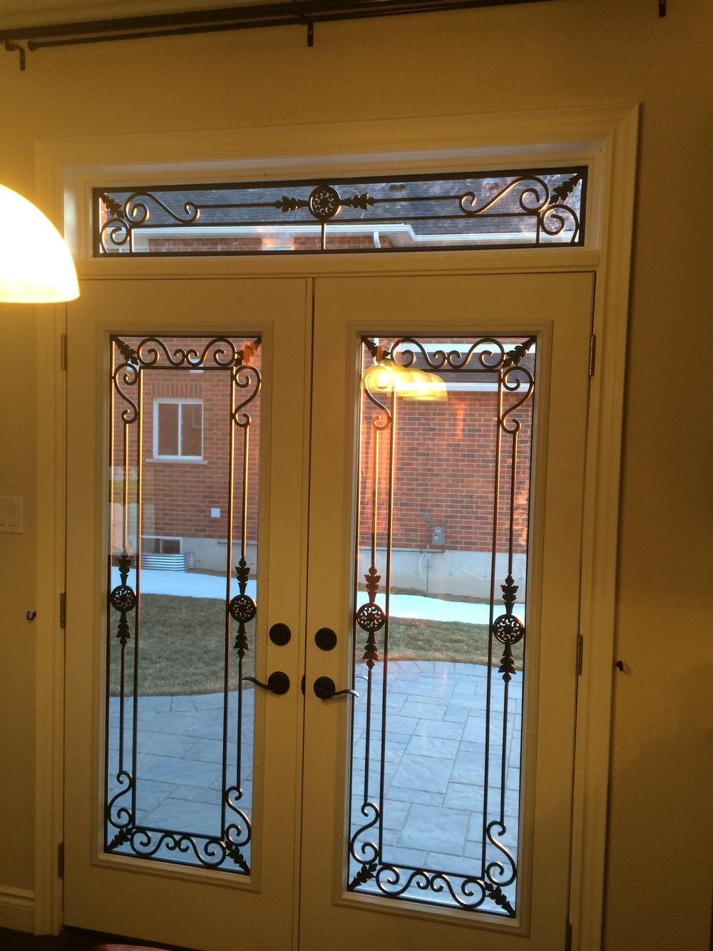 Georgetown-Wrought-Iron-Glass-Door-Inserts-Orillia-Ontario