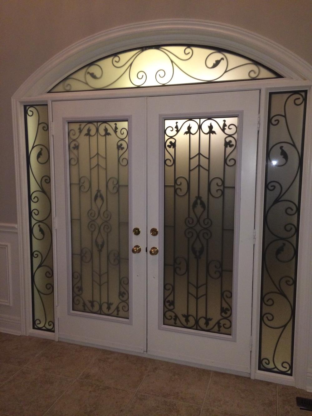 Liverpool-Wrought-Iron-Glass-Door-Inserts-Hamilton-Ontario