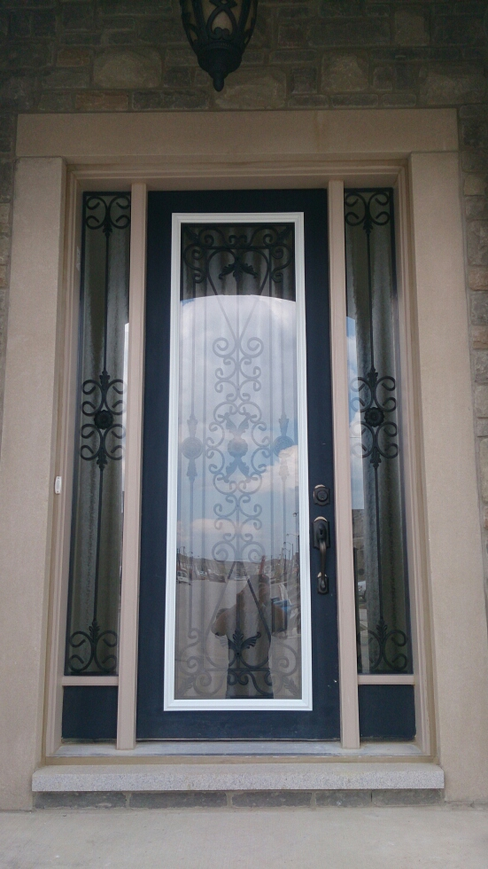 Port-Stnley-Wrought-iron-Glass-Door-Inserts-Barrie-Ontario