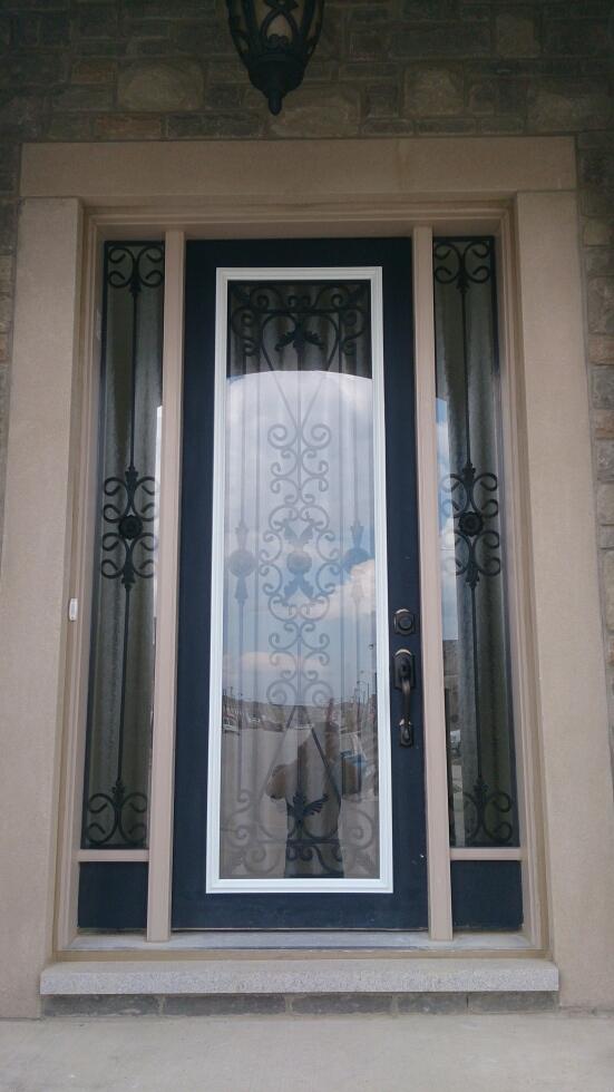 Port-Stnley-Wrought-iron-Glass-Door-Inserts-Barrie-Ontario