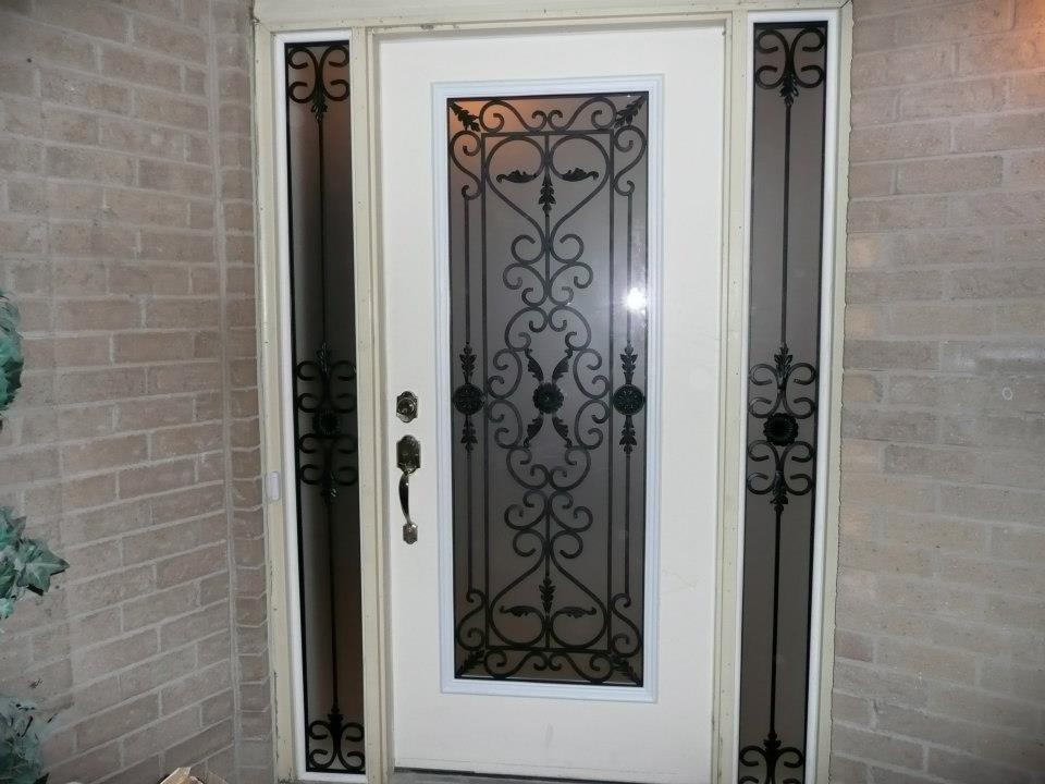 Port-Stnley-Wrought-iron-Glass-Door-Inserts-Binbrook-Ontario