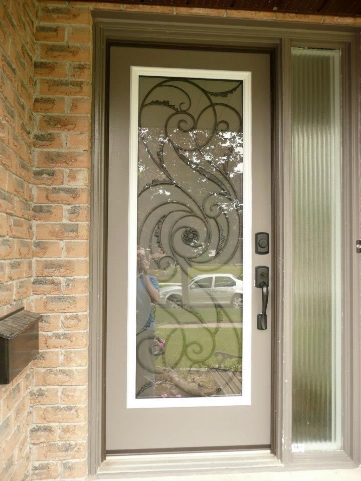 Port-Union-Wrought-Iron-Glass-Door-Inserts-Brampton-Ontario