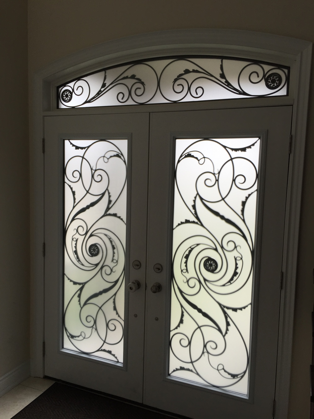 Port-Union-Wrought-Iron-Glass-Door-Inserts-Collingwood-Ontario