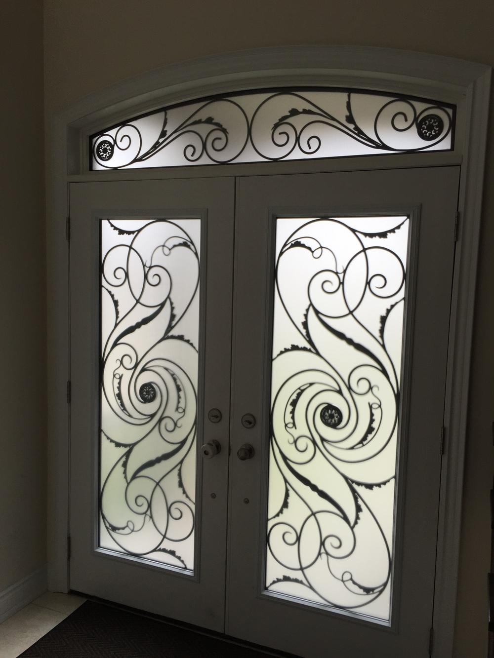 Port-Union-Wrought-Iron-Glass-Door-Inserts-Collingwood-Ontario