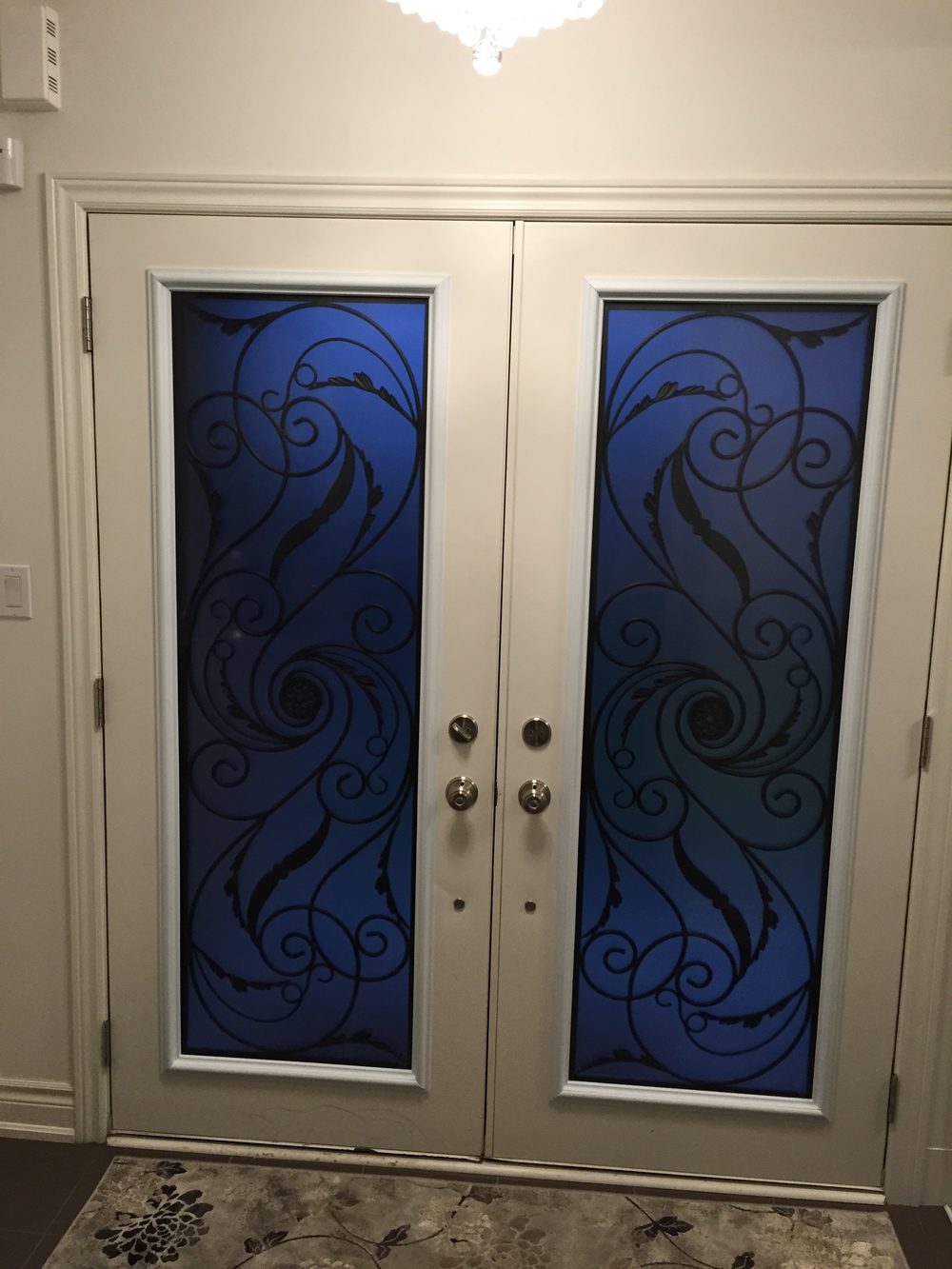 Port-Union-Wrought-Iron-Glass-Door-Inserts-Courtice-Ontario