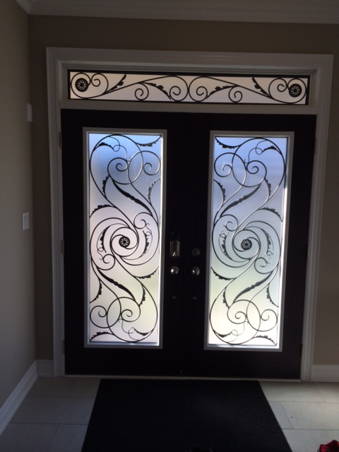 Port-Union-Wrought-Iron-Glass-Door-Inserts-East-Gwillimbury-Ontario