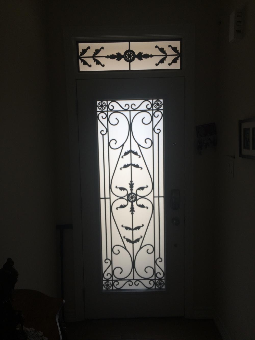 Portland-Wrought-iron-Glass-Door-inserts-Kitchener-Ontario