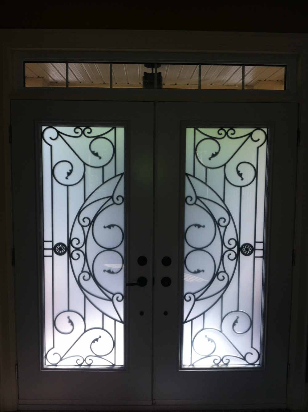 Rochester-Wrought-Iron-Glass-Door-Inserts-Maple-Ontario
