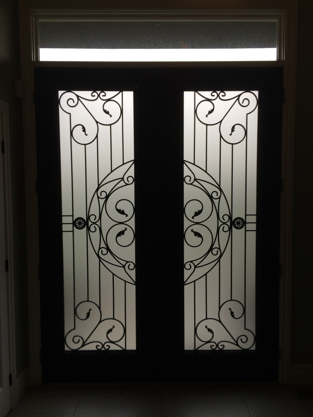 Rochester-Wrought-Iron-Glass-Door-Inserts-Muskoka-ontario