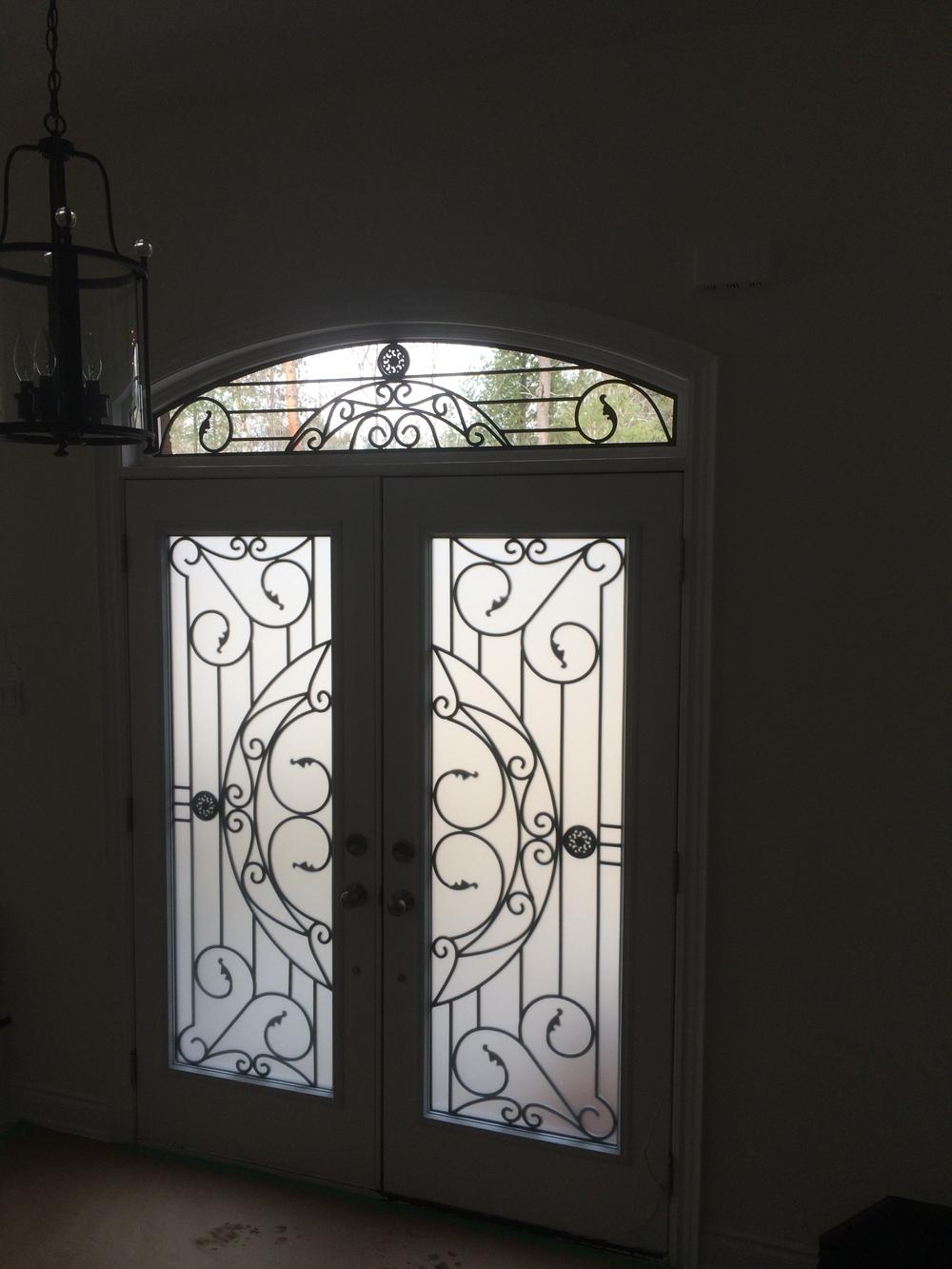 Rochester-Wrought-Iron-Glass-Door-Inserts-Newmarket-Ontario