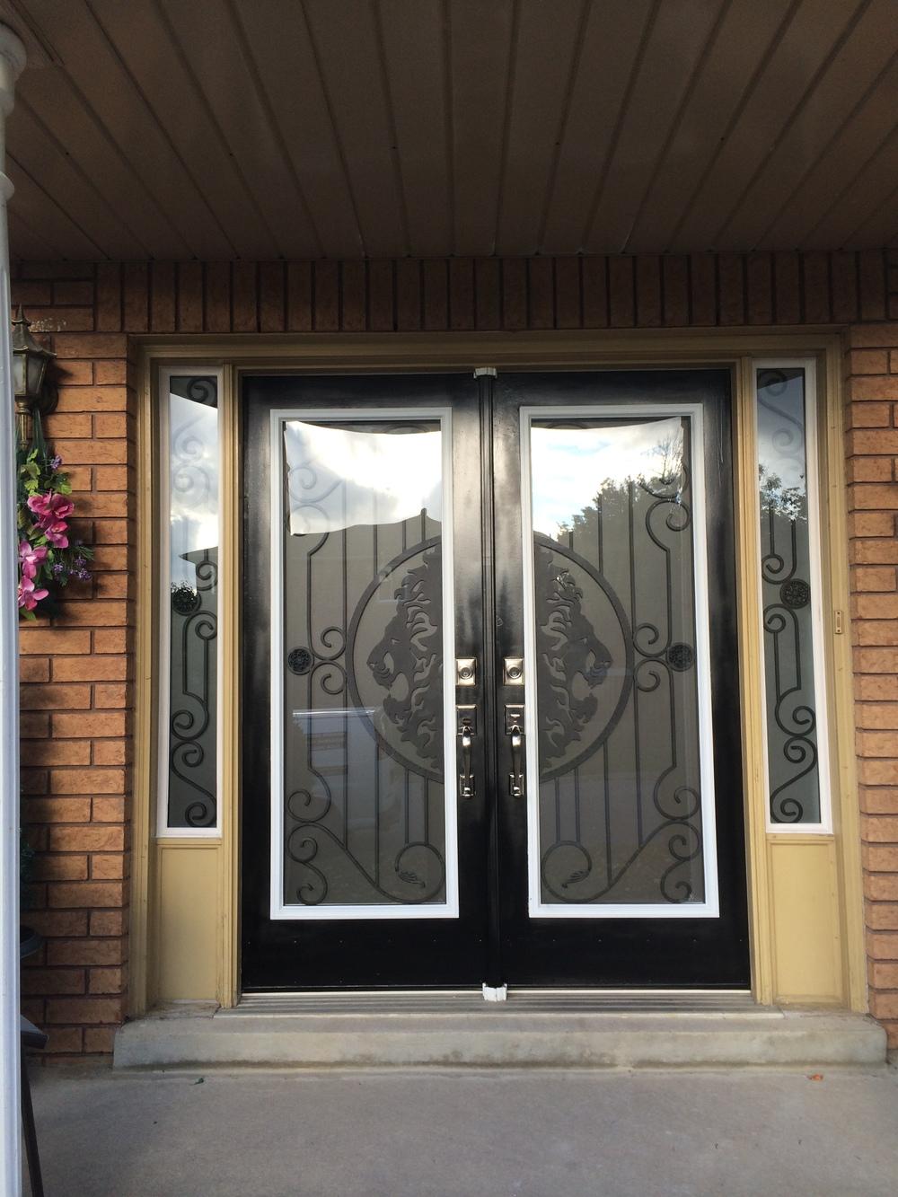 Thunder-bay-wrought-iron-glass-door-inserts-Niagara-Falls-Ontario