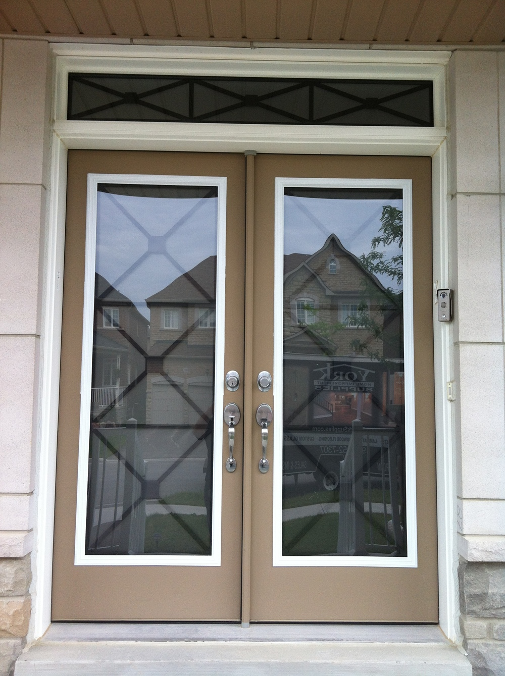 x-design-wrought-iron-glass-door-insert-installtion-in-bracebridge-on