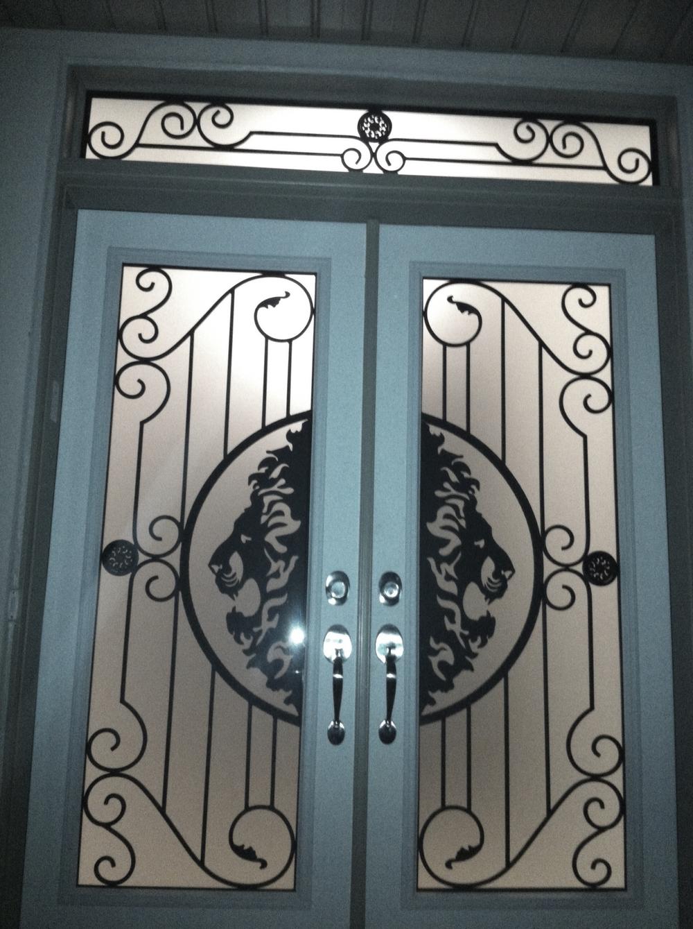 Thunder-Bay-Wrought-iron-Glass-Door-Inserts-Orillia-Ontario