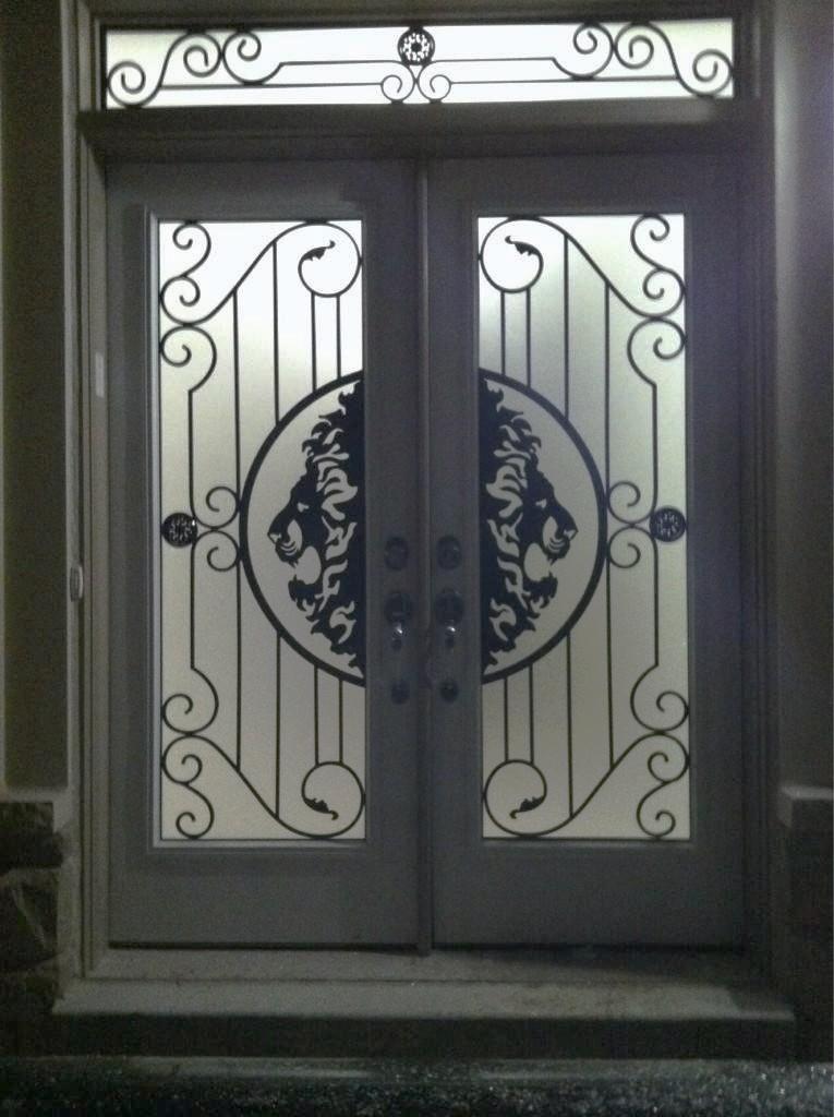 Thunder-Bay-Wrought-iron-Glass-Door-Inserts-Orangeville-Ontario