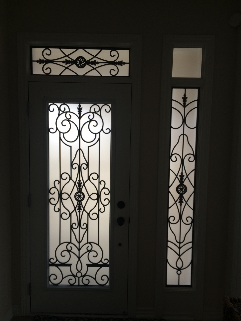 Old-Castle-Wrought-Iron-Glass-Door-Inserts-Ajax-Ontario