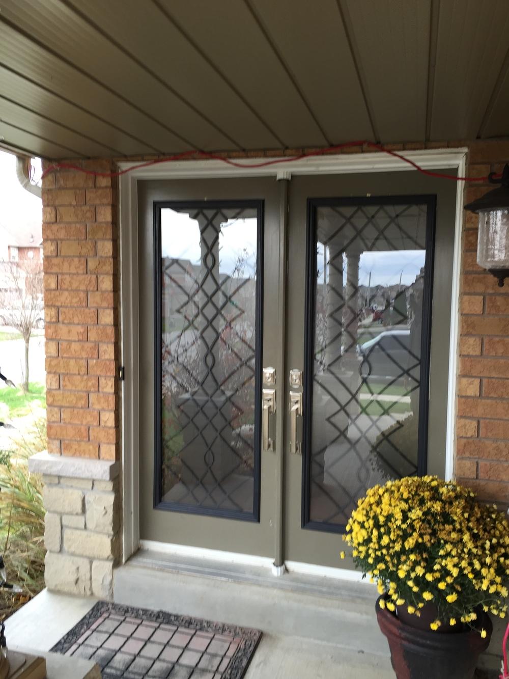 Oakridge-Wrought-Iron-Glass-Door-Inserts-Stoney-Creek-Ontario