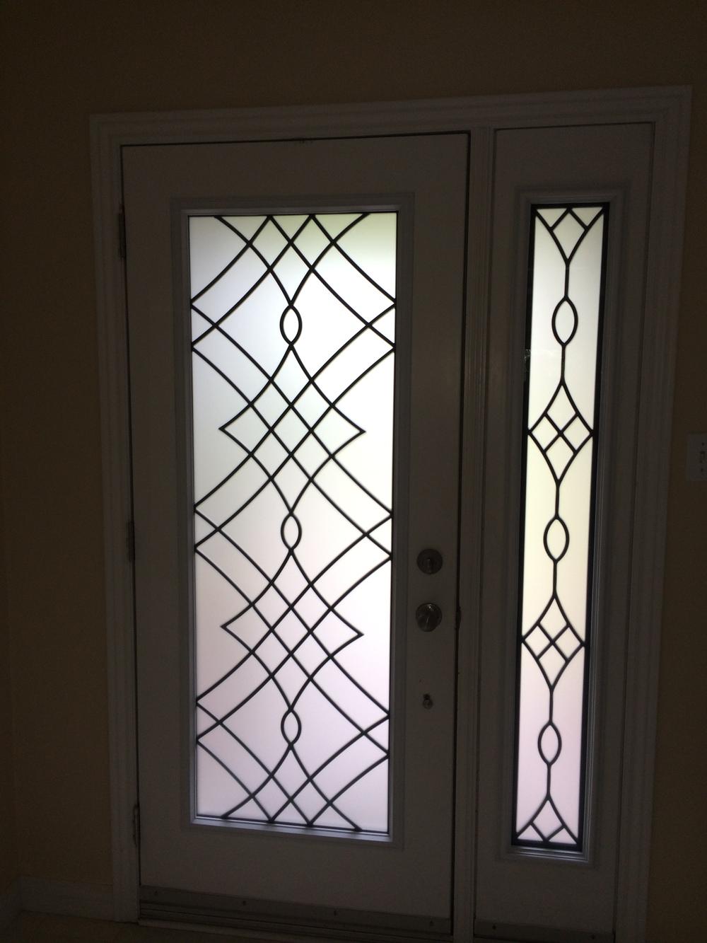 Oakridge-Wrought-Iron-Glass-Door-Inserts-Vaughan-Ontario