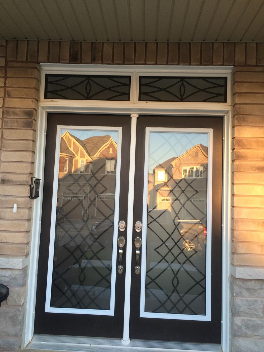 Oakridge-Wrought-Iron-Glass-Door-Inserts-Markham-Ontario