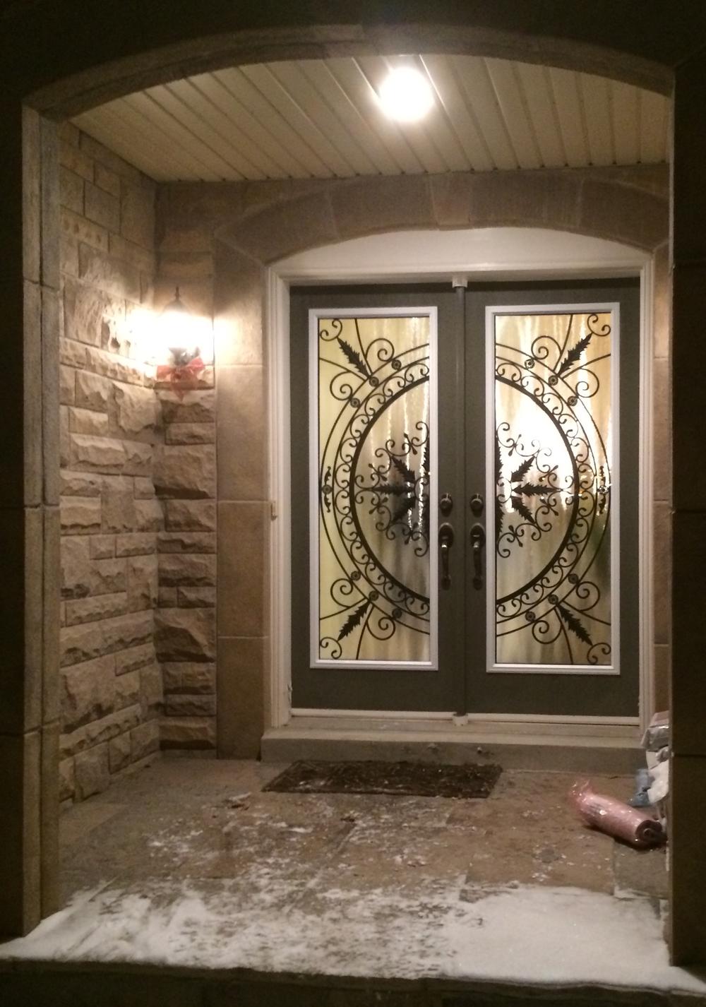 Hillcrest-Wrought-Iron-Glass-Door-Inserts-Wasaga-Beach-Ontario