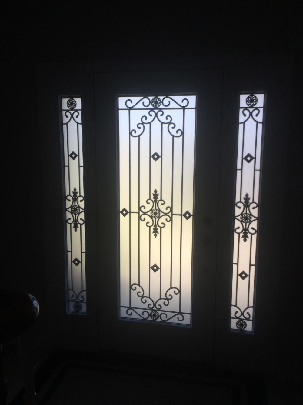 Dalmont-wrought-iron-glass-door-Inserts-Hamilton-Ontario