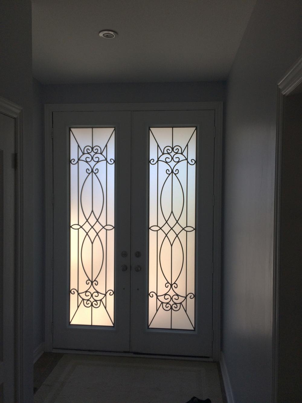 Blackburn-Wrought-Iron-Glass-Door-inserts-King-City-Ontario
