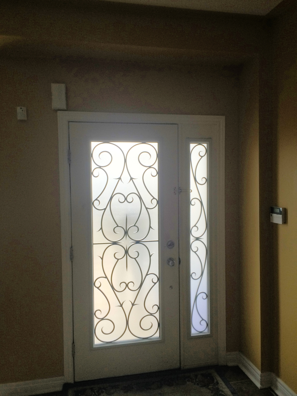 Bristol-Wrought-iron-Glass-Door-Inserts-Aurora-Ontario