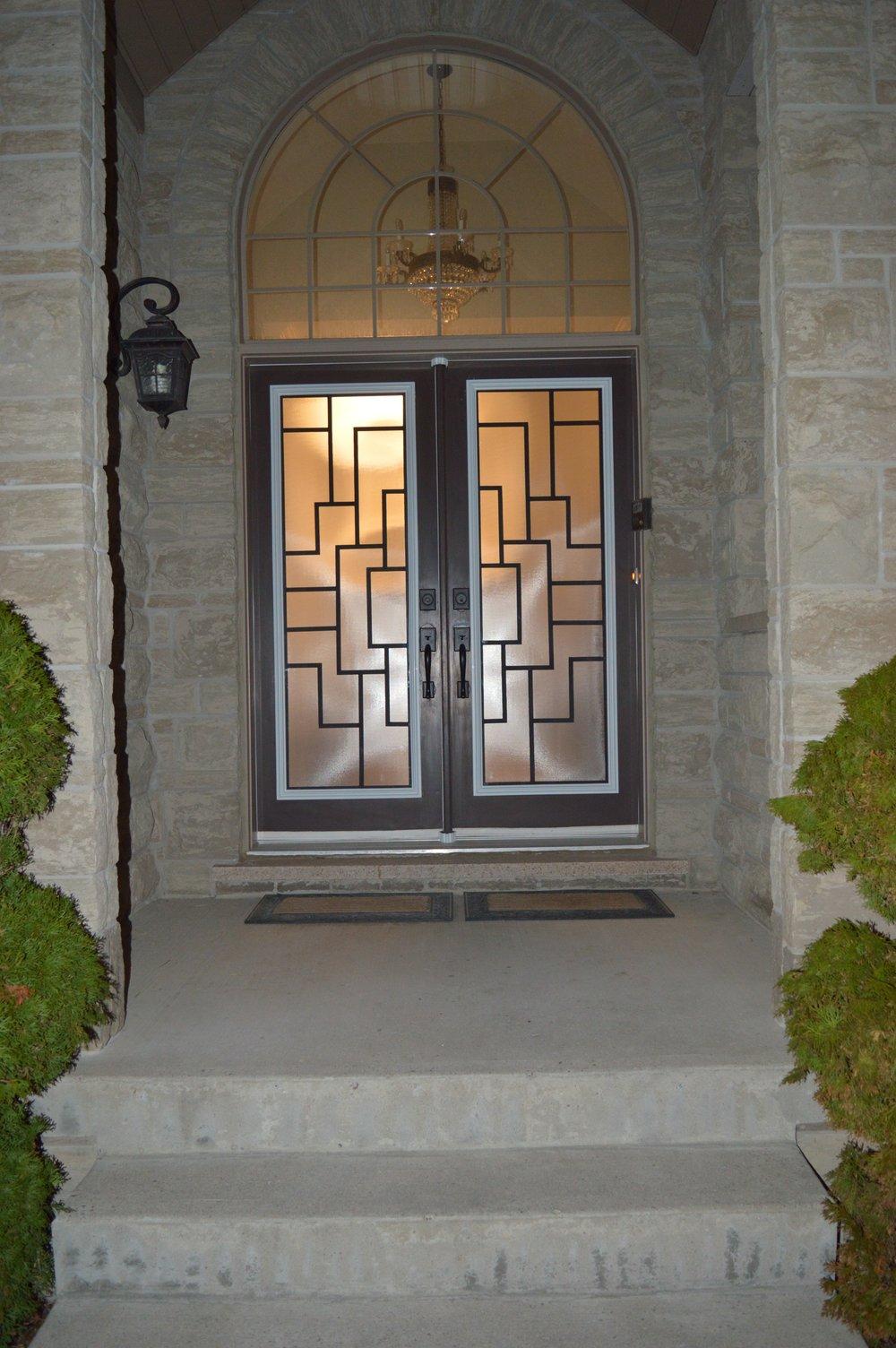 Malibu-Wrrought-Iron-Glass-Door-Inserts-Mississauga-Ontario