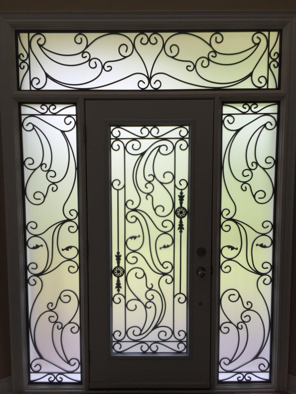 Santa-Ana-Wrought-Iron-Glass-Door-Inserts-Newmarket-Ontario