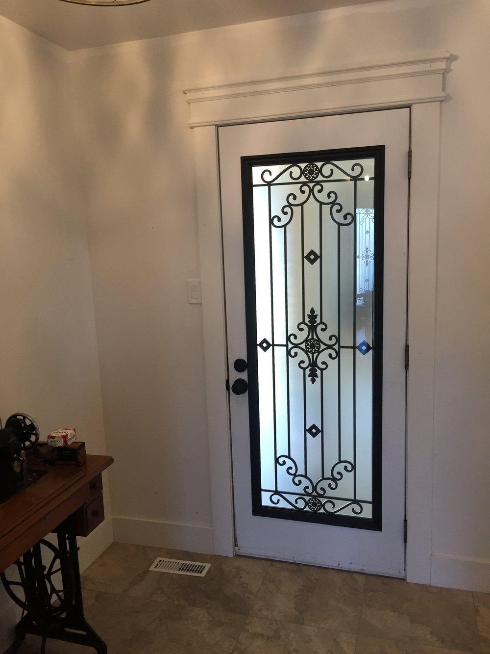 Dalmont-wrought-iron-glass-door-Inserts-Stoney-Creek-Ontario