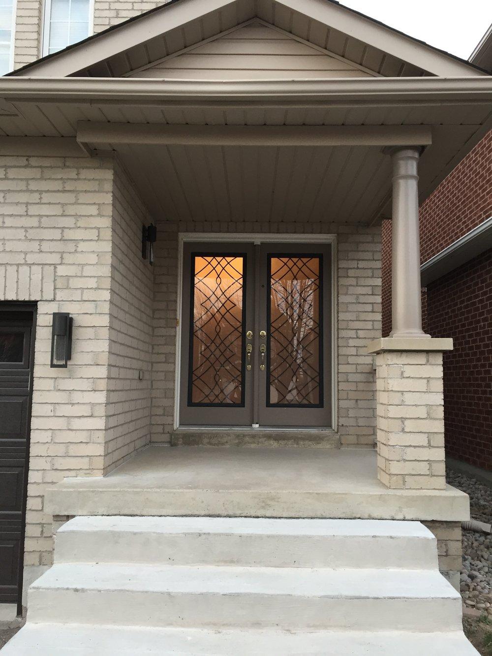 Oakridge-Wrought-Iron-Glass-Door-Inserts-Oshawa-ontario