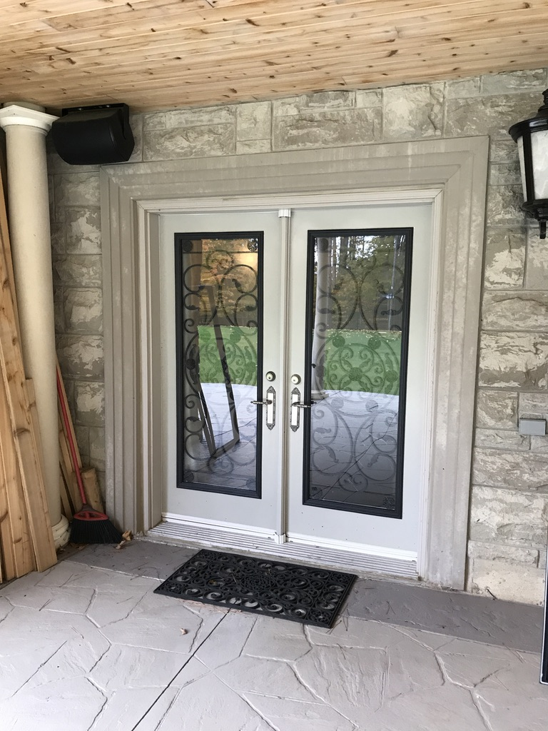 Campbellsford-Wrought-Iron-Glass-Door-Inserts-Whitby-Ontario