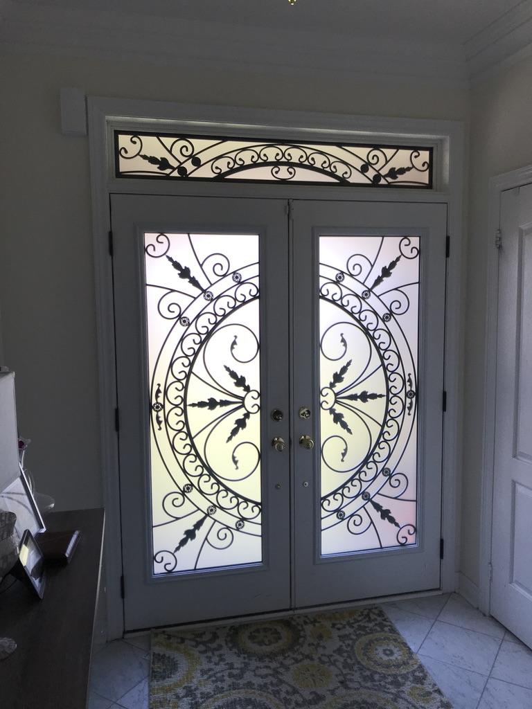 Chesterfield-wrought-Iron-Glass-Door-Inserts-Ajax-Ontario
