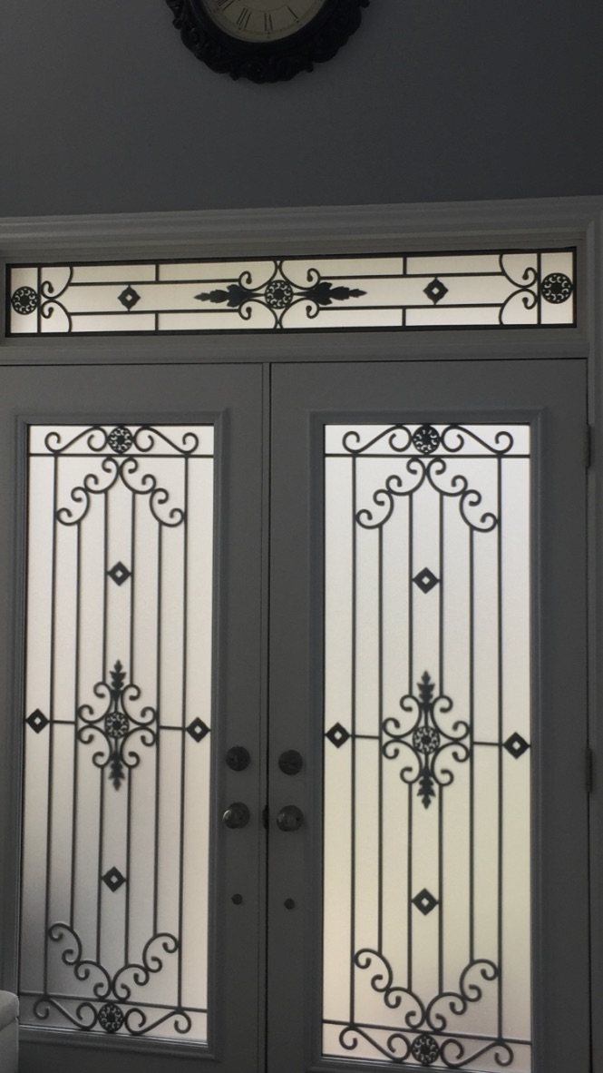 Dalmont-wrought-iron-glass-door-Inserts-Ancaster-Ontario