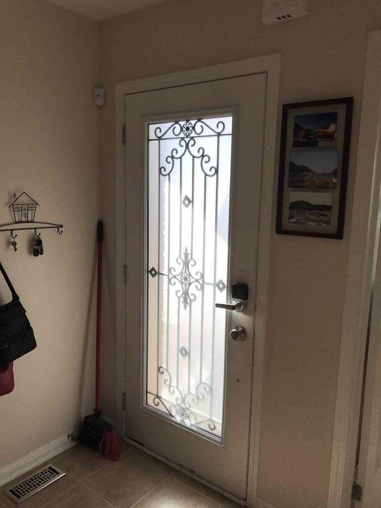 Dalmont-wrought-iron-glass-door-Inserts-oakville-Ontario
