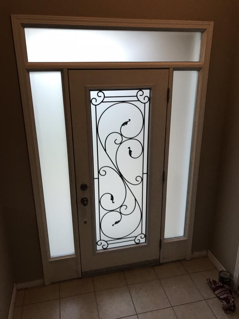 Flamingo-Bay-Wrought-Iron-Glass-Door-Inserts-East-Gwillimbury-Ontario