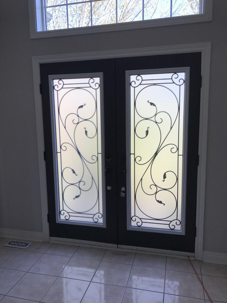 Flamingo-Bay-Wrought-Iron-Glass-Door-Inserts-Keswick-Ontario
