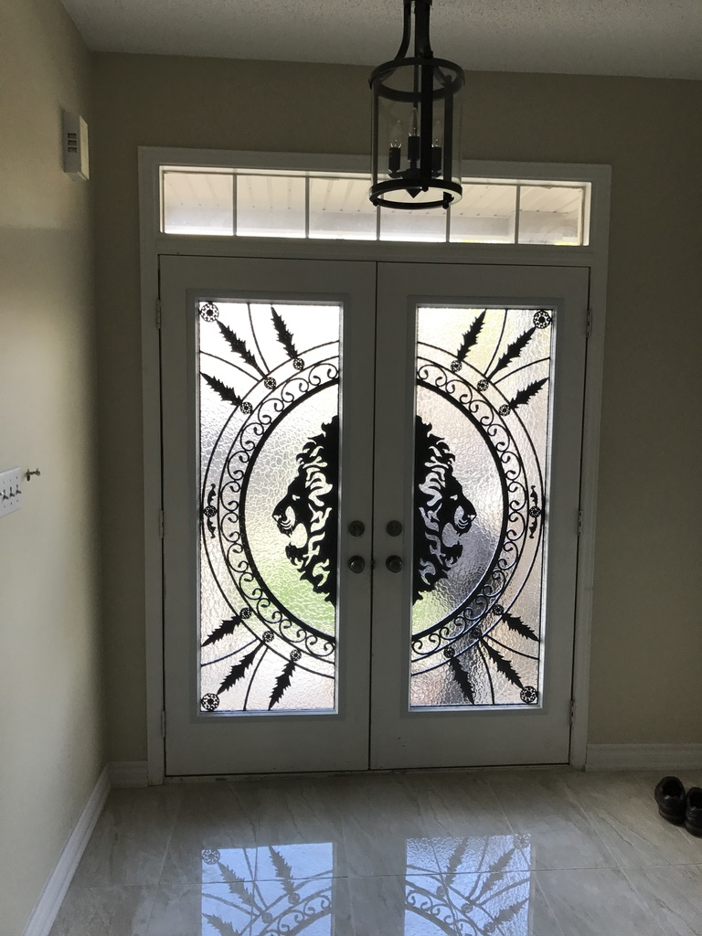 Forest-King-Wrought-Iron-Glass-Door-Inserts-Innisfil-Ontario