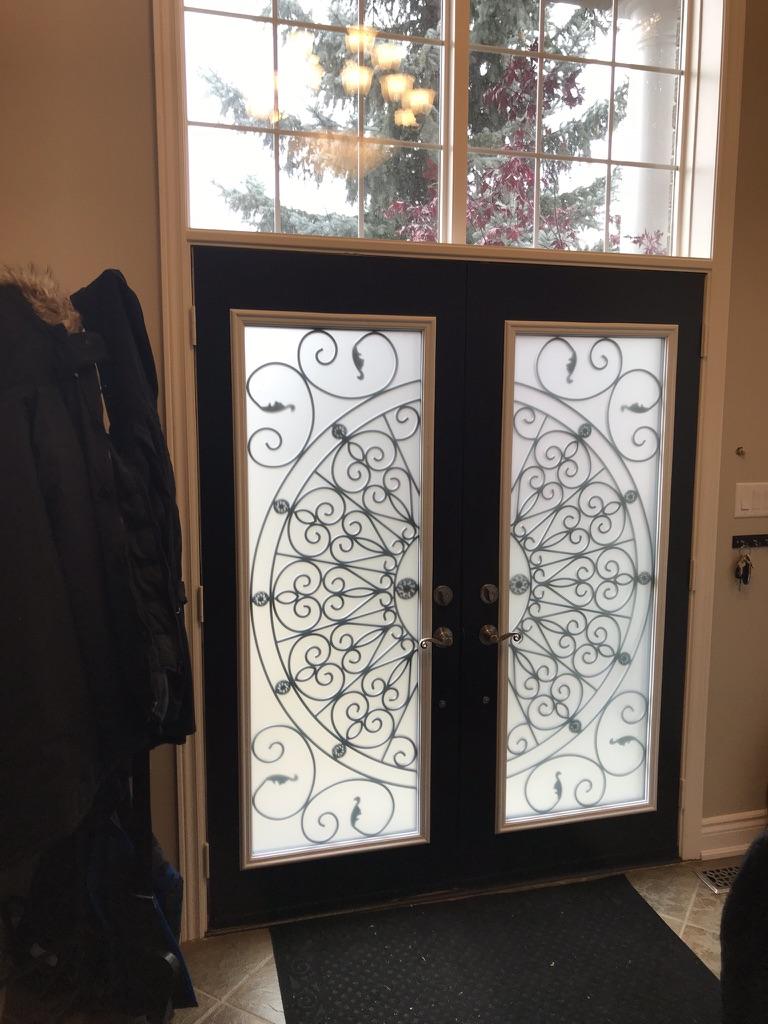 Palos-Verdes-Wrought-Iron-Glass-Door-Inserts-Aurora-Ontario