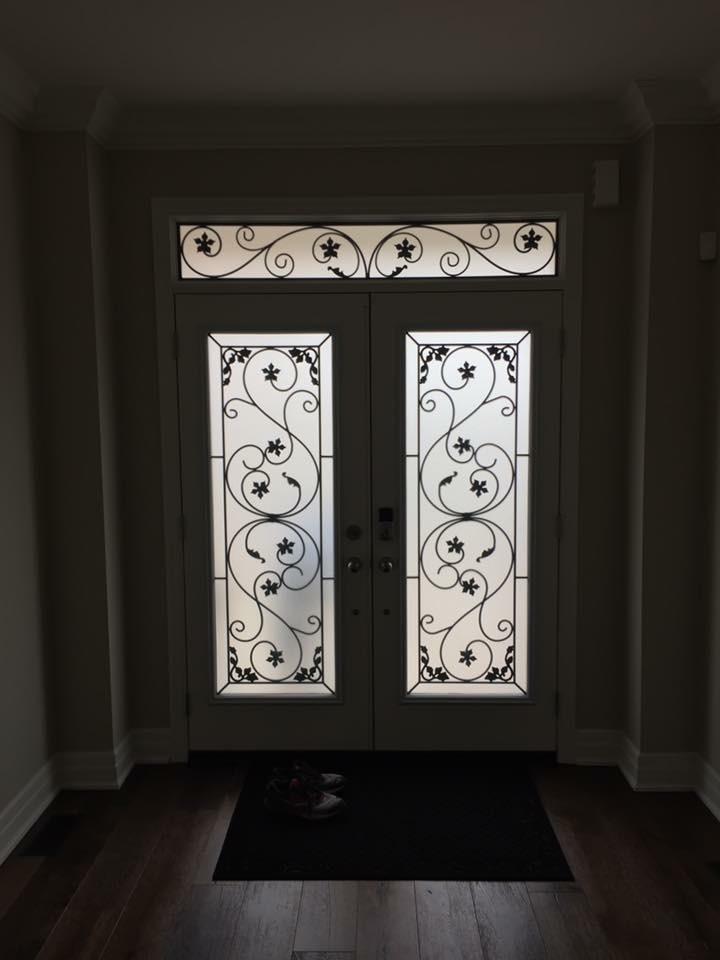 Black-Pool-Wrought-Iron-Glass-Door-Inserts-Alliston-Ontario