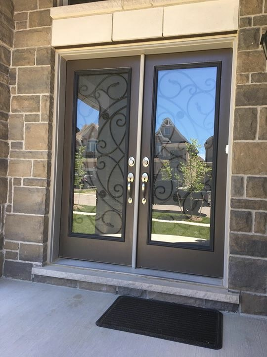 Whitfield-wrought-iron-glass-door-inserts-installtion-in-ajax-on