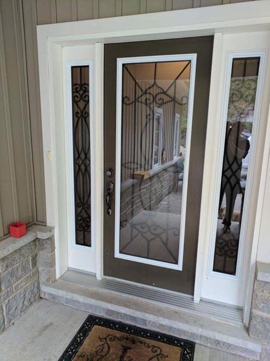 Blackburn-Wrought-Iron-Glass-Door-inserts-Oakville-Ontario