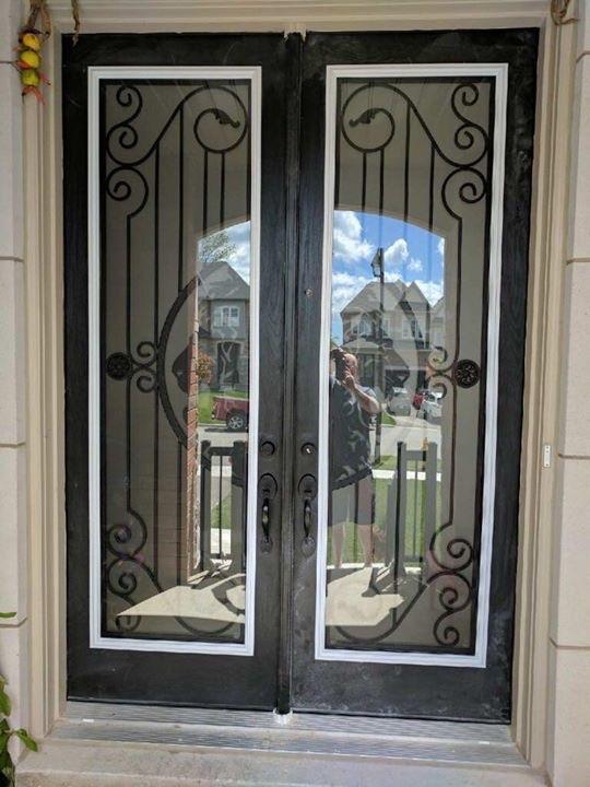 Thunder-Bay-Wrought-iron-Glass-Door-Inserts-Oshawa-Ontario