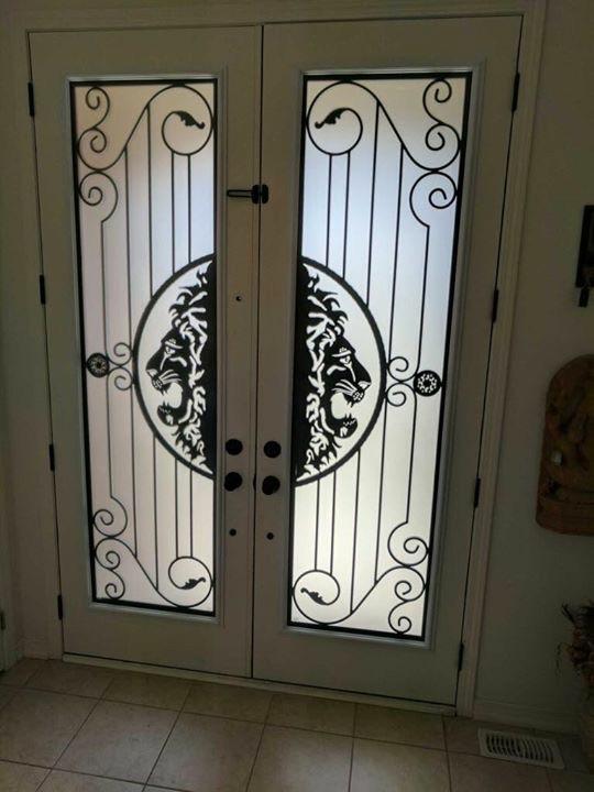 Thunder-Bay-Wrought-iron-Glass-Door-Inserts-Pickering-Ontario