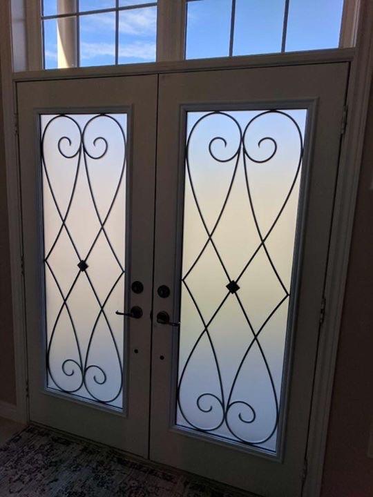 Beverly-Hills-Wrought-Iron-Glass-Door-Inserts-Newmarket-Ontario